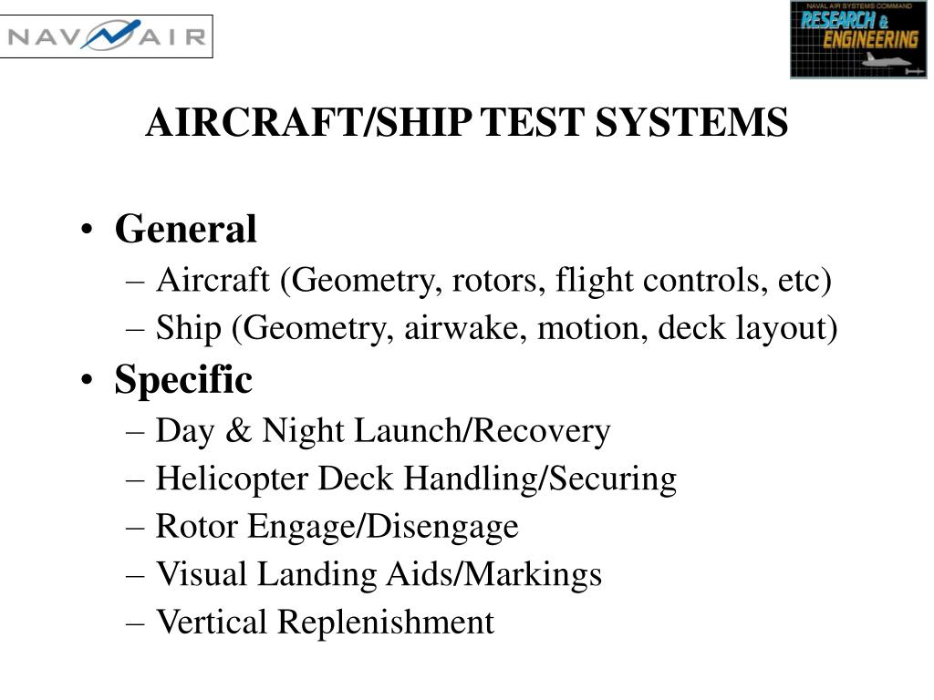 AIRCRAFT/SHIP TEST SYSTEMS