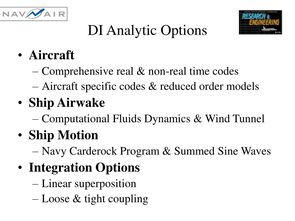 DI Analytic Options