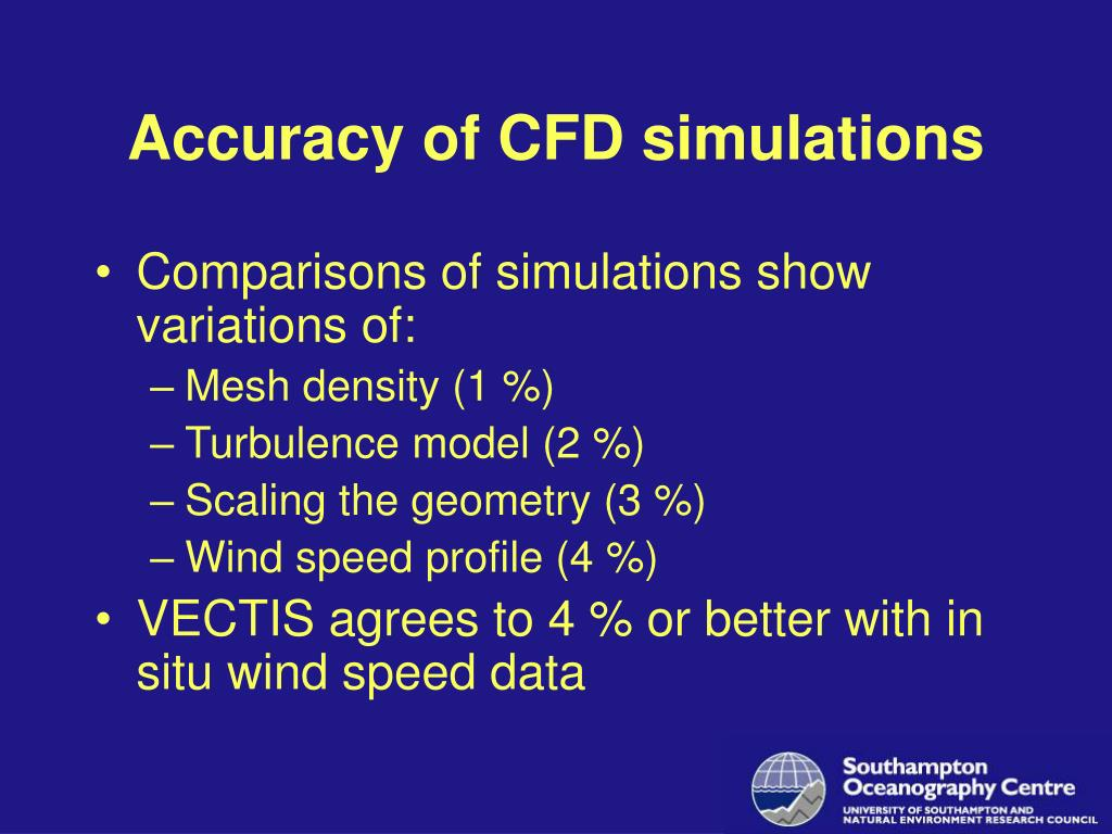 Accuracy of CFD simulations