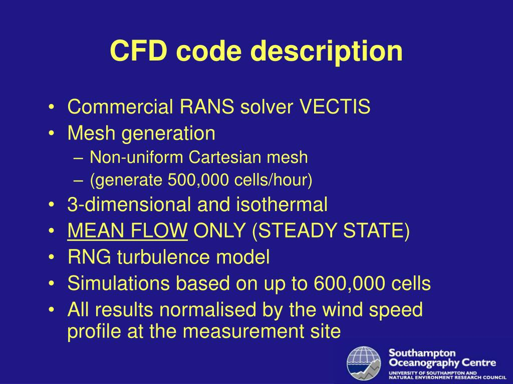 CFD code description