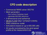 cfd code description
