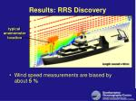 results rrs discovery
