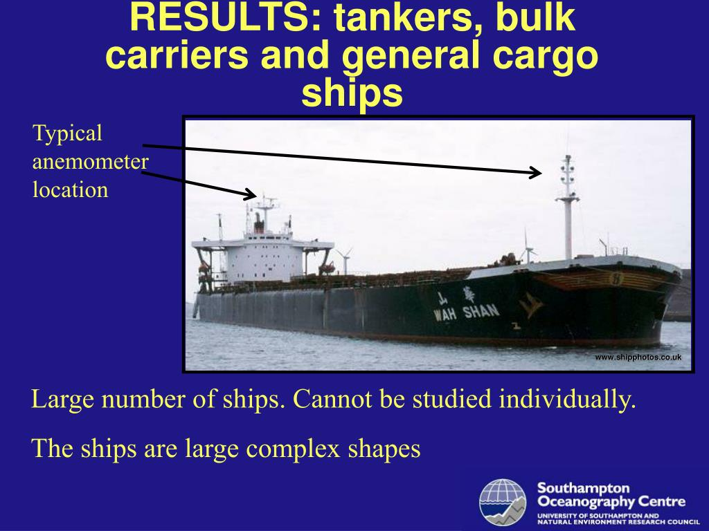 RESULTS: tankers, bulk carriers and general cargo ships