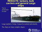 results tankers bulk carriers and general cargo ships