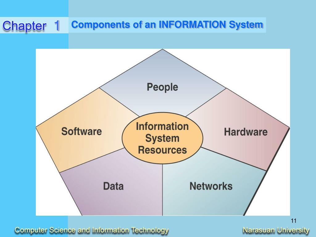 components of an information system Management information systems (mis) consists of hardware, software, data, people, and procedures they are interrelated to each other data are the fuel of hardware.