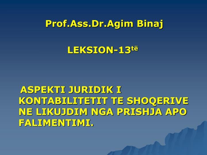 Prof.Ass.Dr.Agim