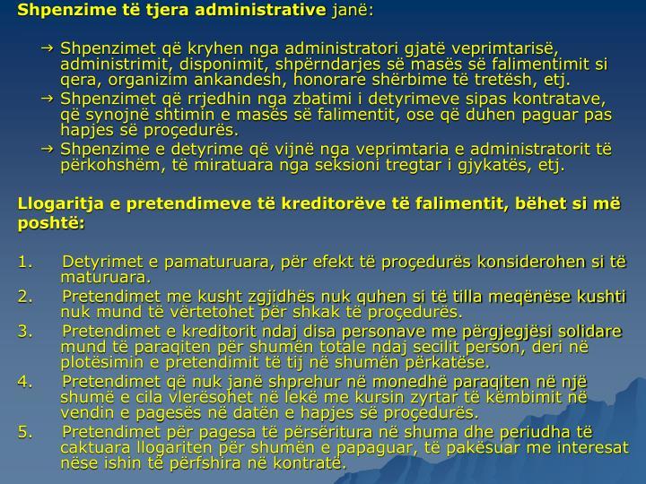 Shpenzime t tjera administrative