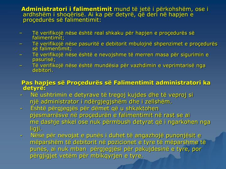 Administratori i falimentimit