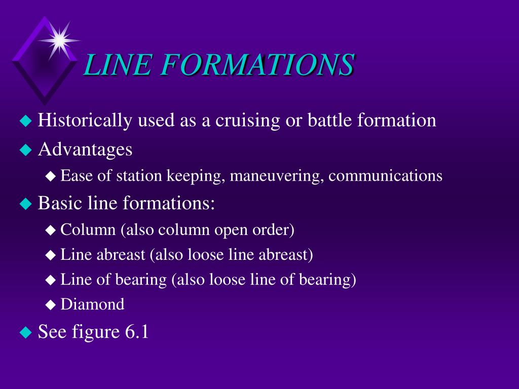 LINE FORMATIONS