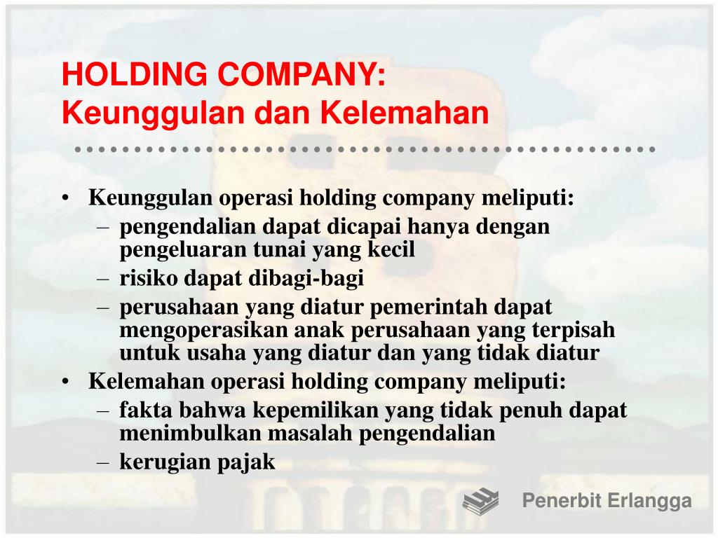 HOLDING COMPANY: