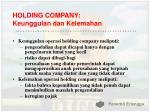 holding company keunggulan dan kelemahan
