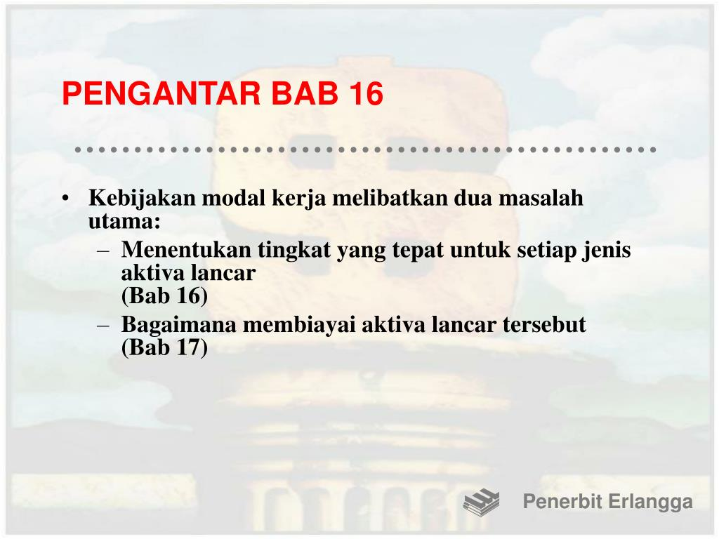 PENGANTAR BAB 16