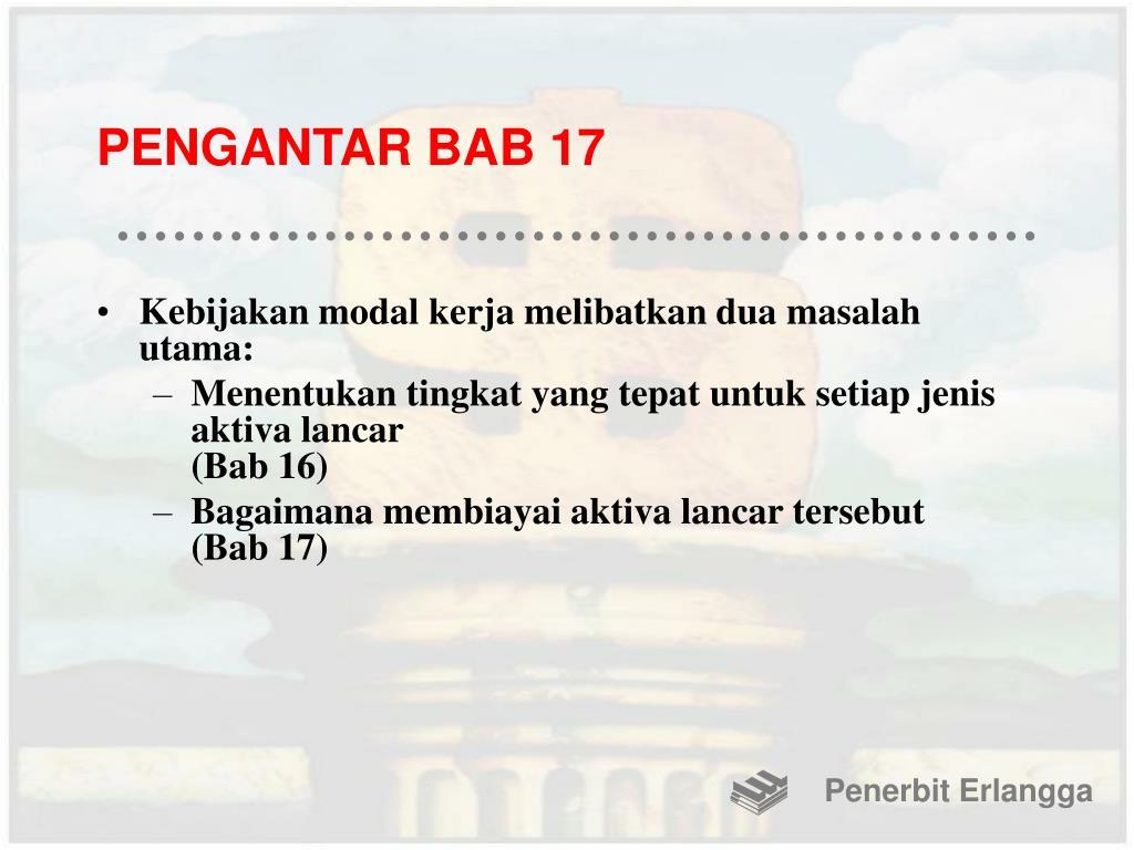 PENGANTAR BAB 17
