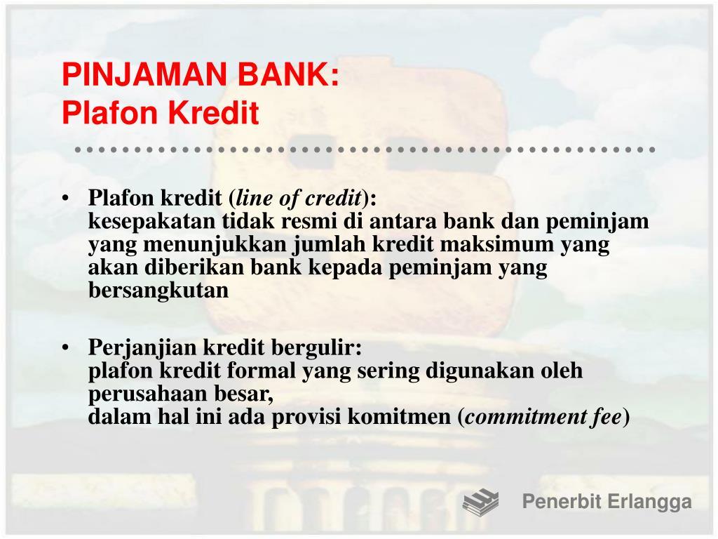 PINJAMAN BANK: