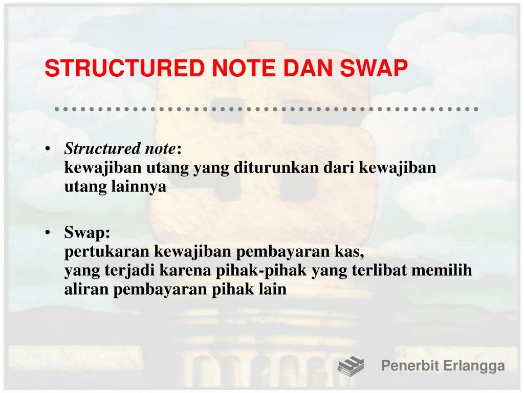 STRUCTURED NOTE DAN SWAP