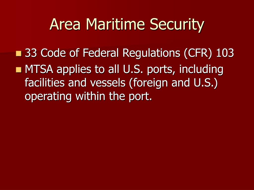Area Maritime Security