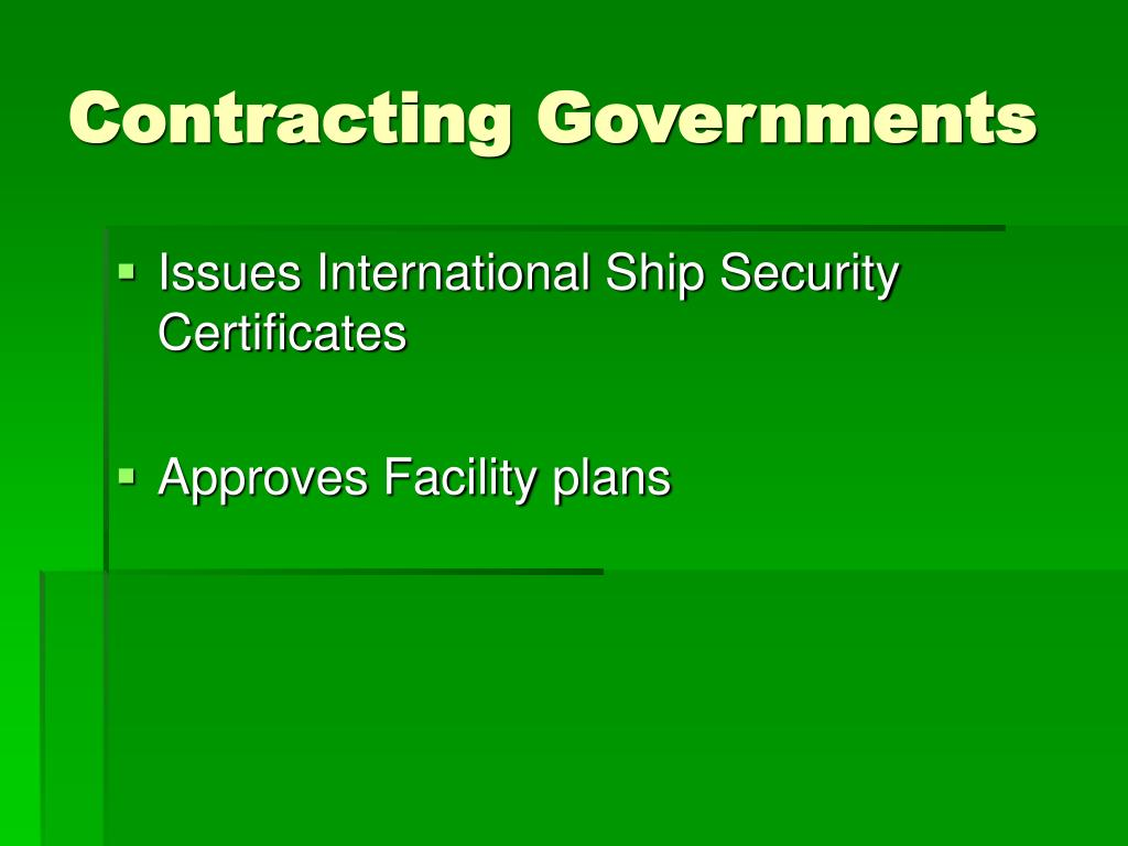 Contracting Governments