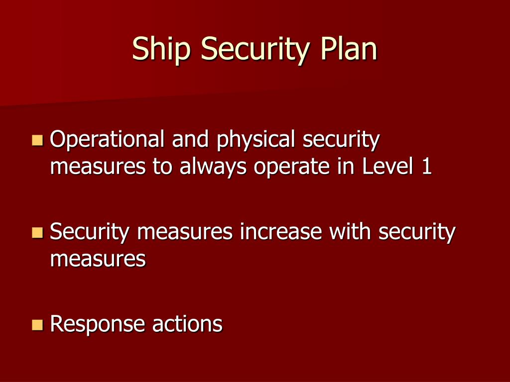 Ship Security Plan