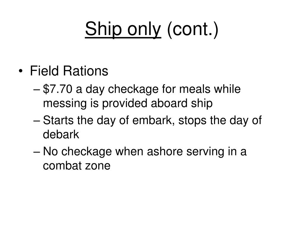 Ship only