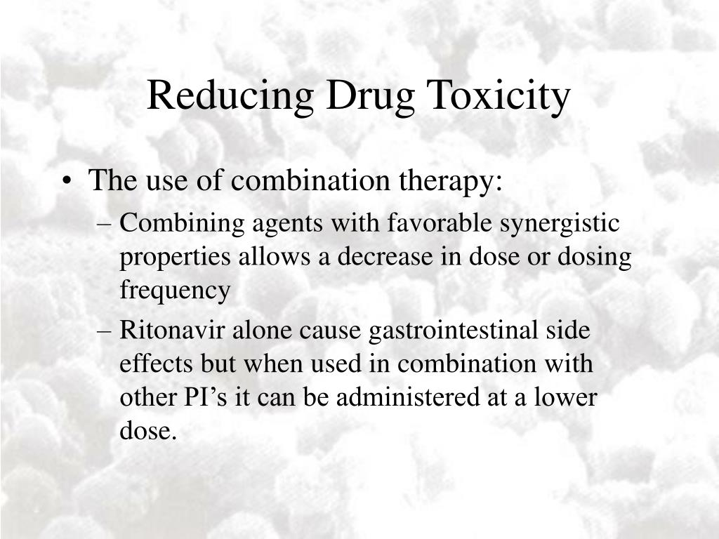 Reducing Drug Toxicity