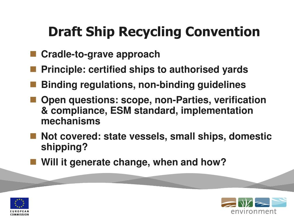 Draft Ship Recycling Convention