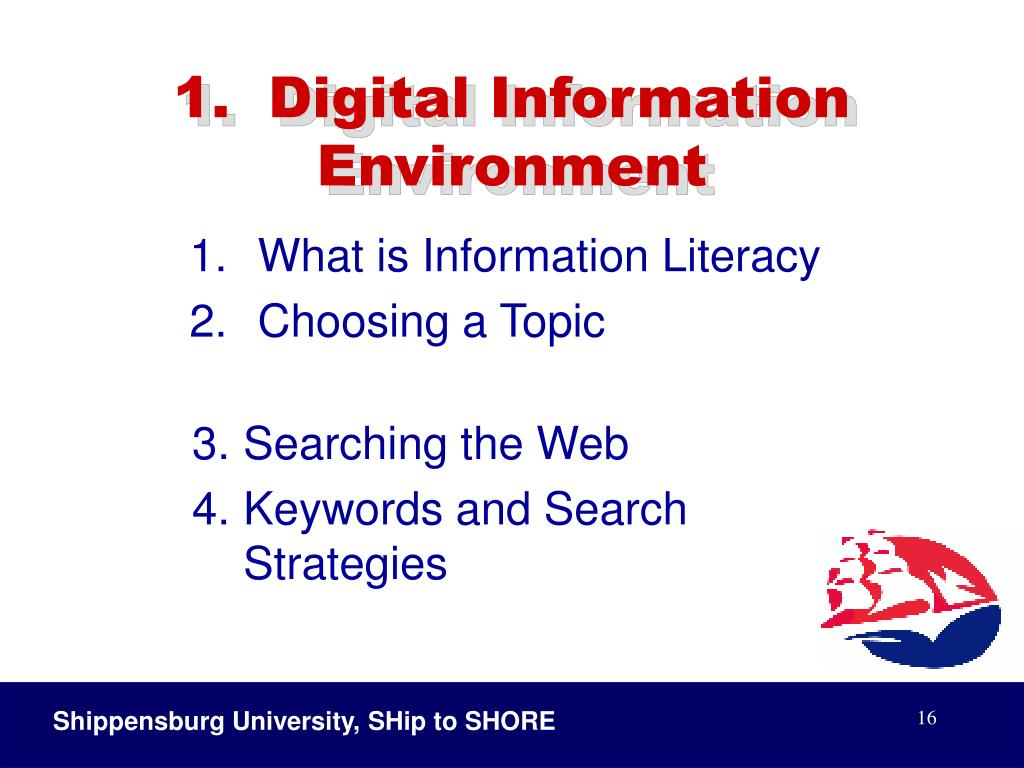 1.  Digital Information Environment