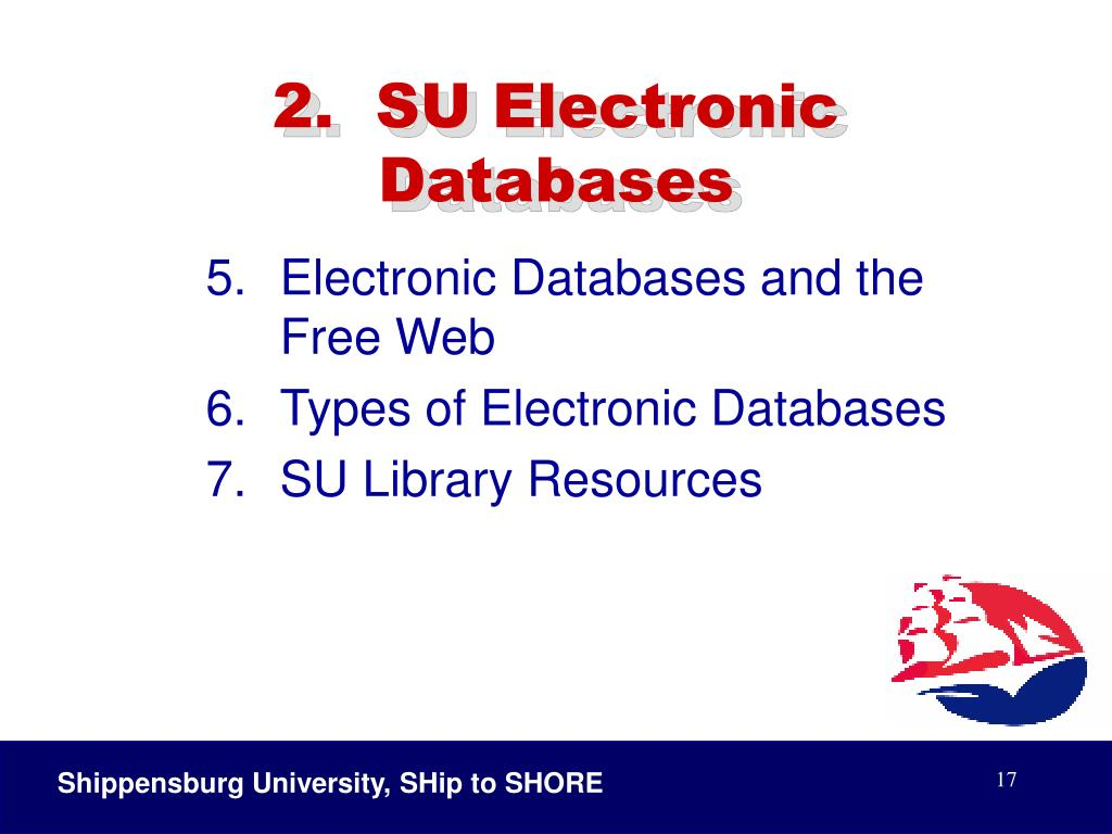 2.  SU Electronic Databases