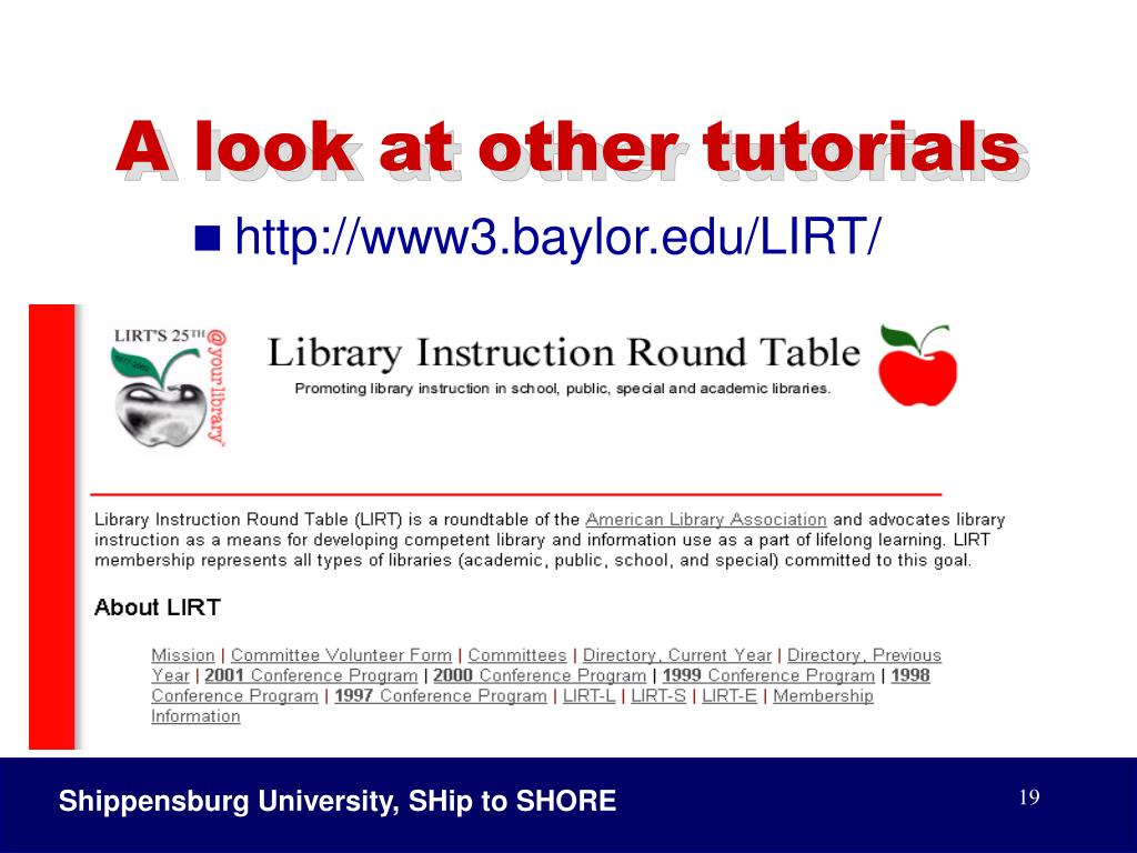 A look at other tutorials