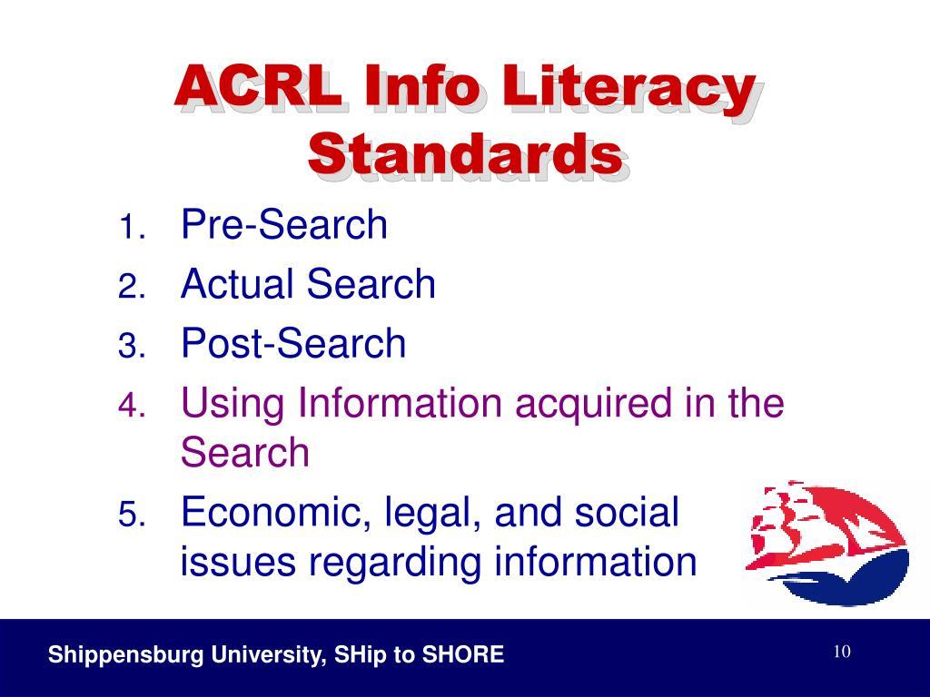 ACRL Info Literacy Standards
