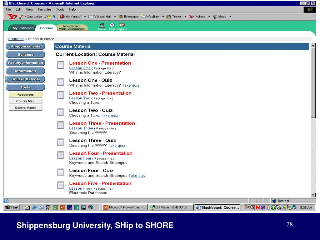 Shippensburg University, SHip to SHORE