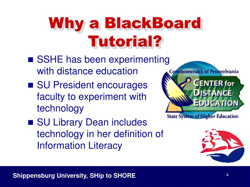 Why a BlackBoard Tutorial?