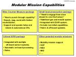 modular mission capabilities