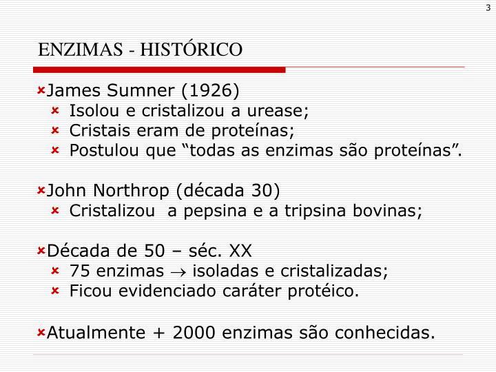 ENZIMAS - HISTÓRICO