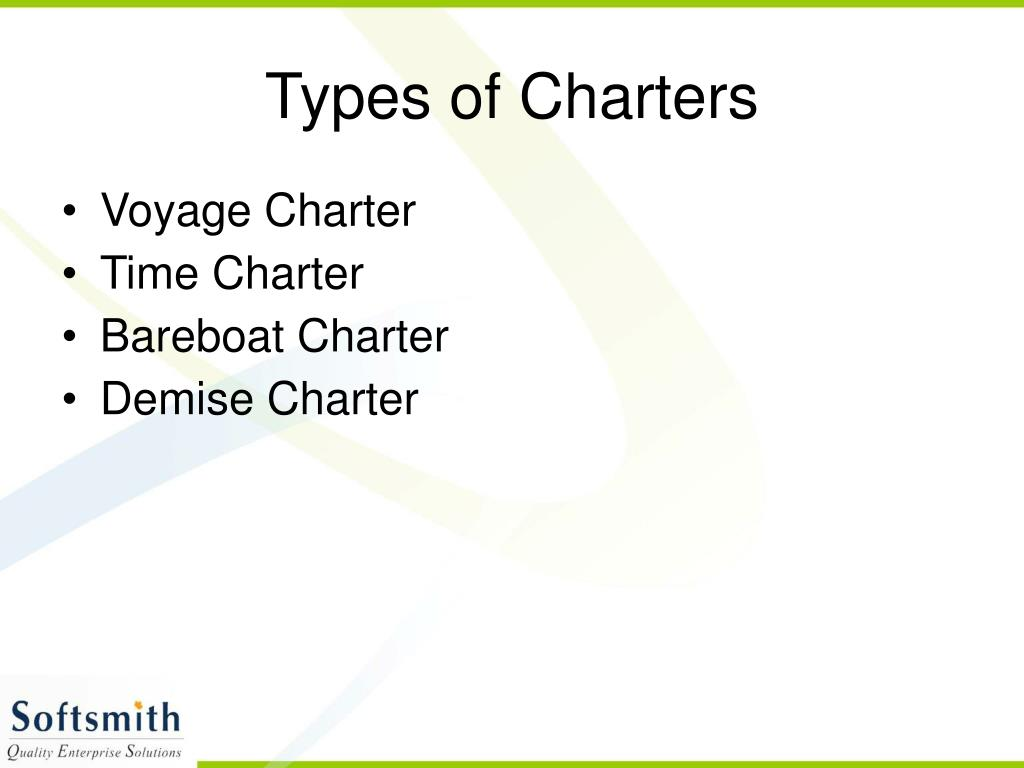 Types of Charters