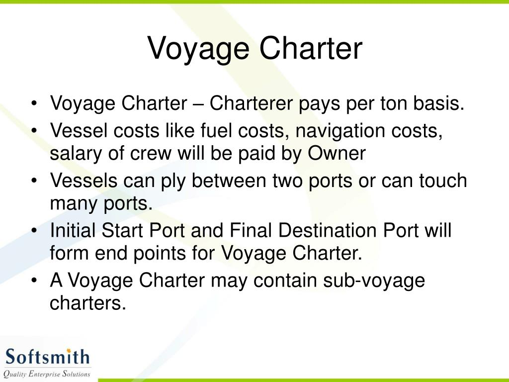 Voyage Charter