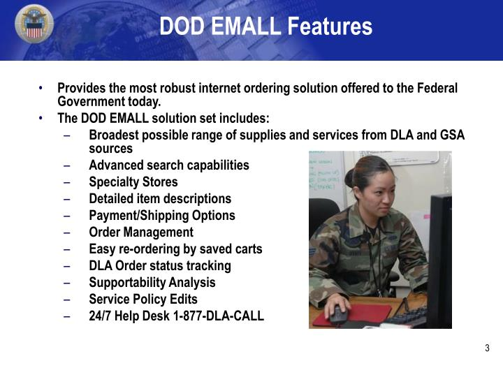 Dod emall features