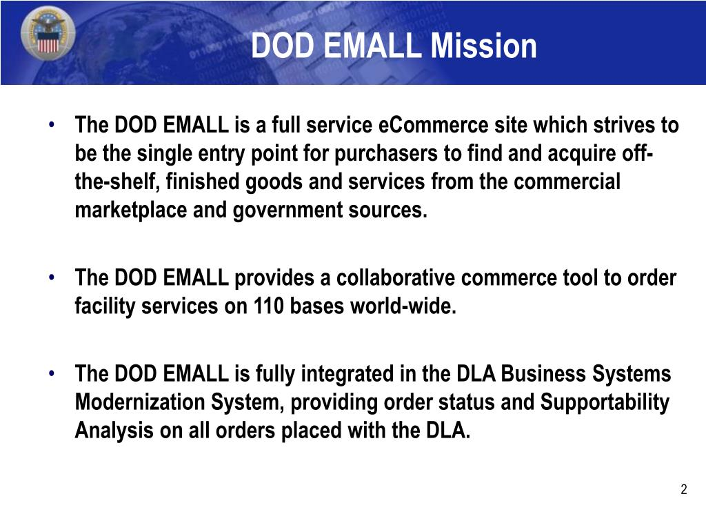DOD EMALL Mission