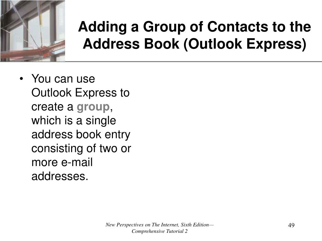 Adding a Group of Contacts to the Address Book (Outlook Express)
