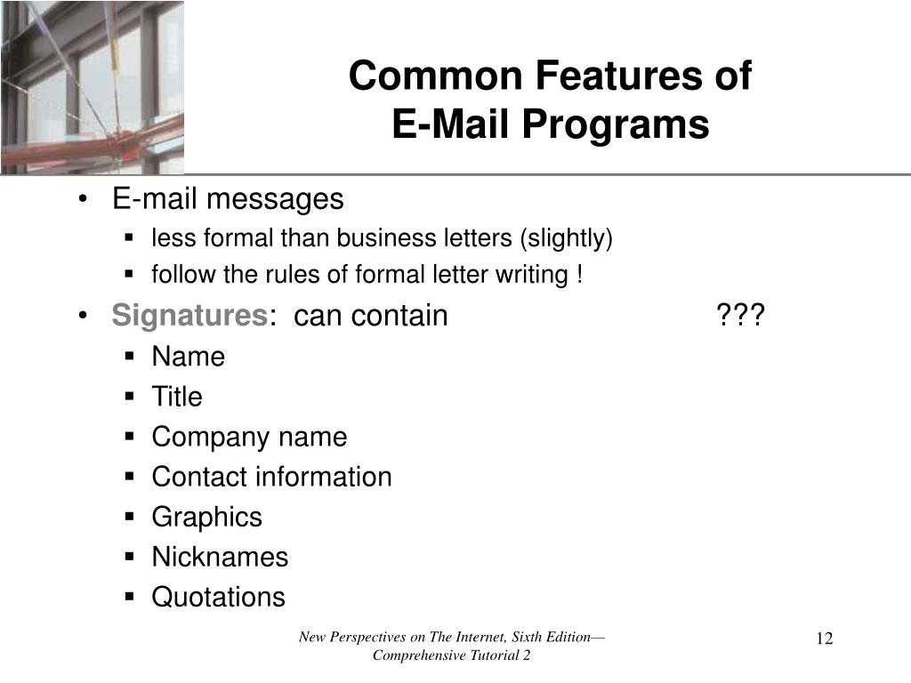 Common Features of