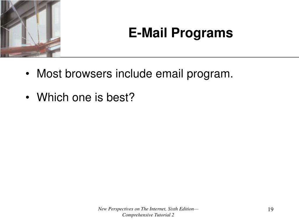 E-Mail Programs