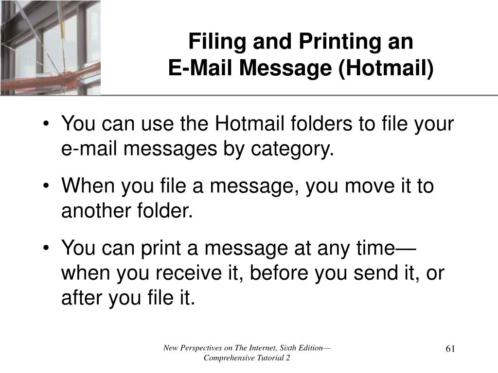 Filing and Printing an