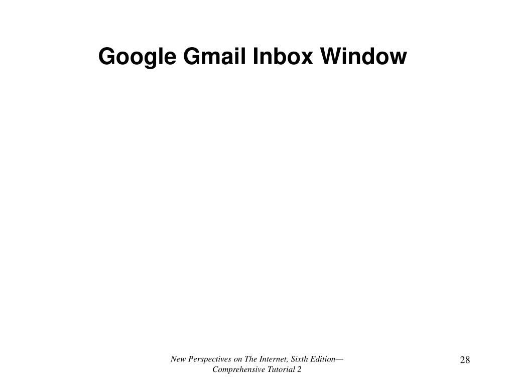 Google Gmail Inbox Window