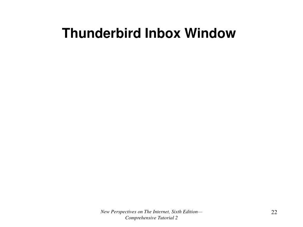 Thunderbird Inbox Window