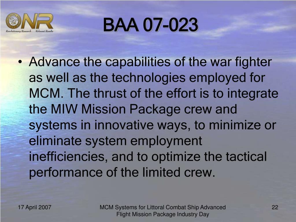 BAA 07-023