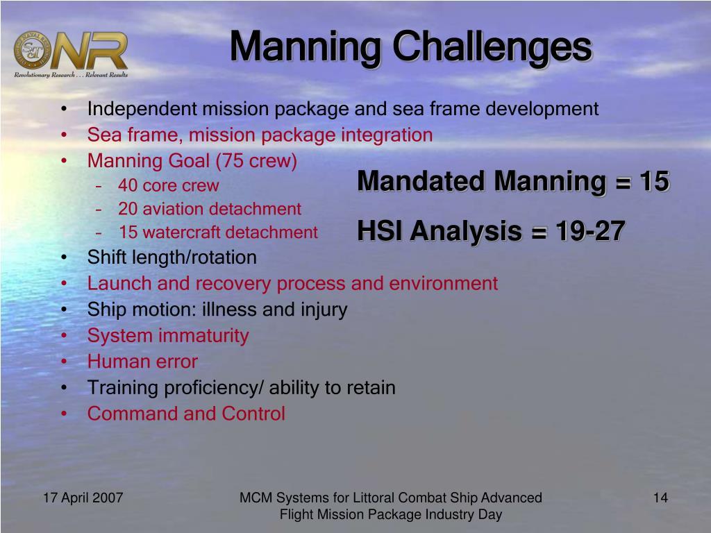 Manning Challenges
