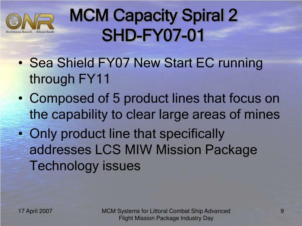 MCM Capacity Spiral 2 SHD-FY07-01