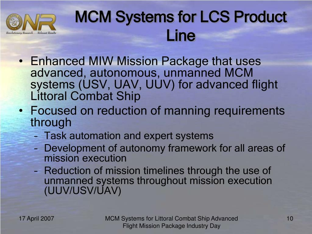 MCM Systems for LCS Product Line