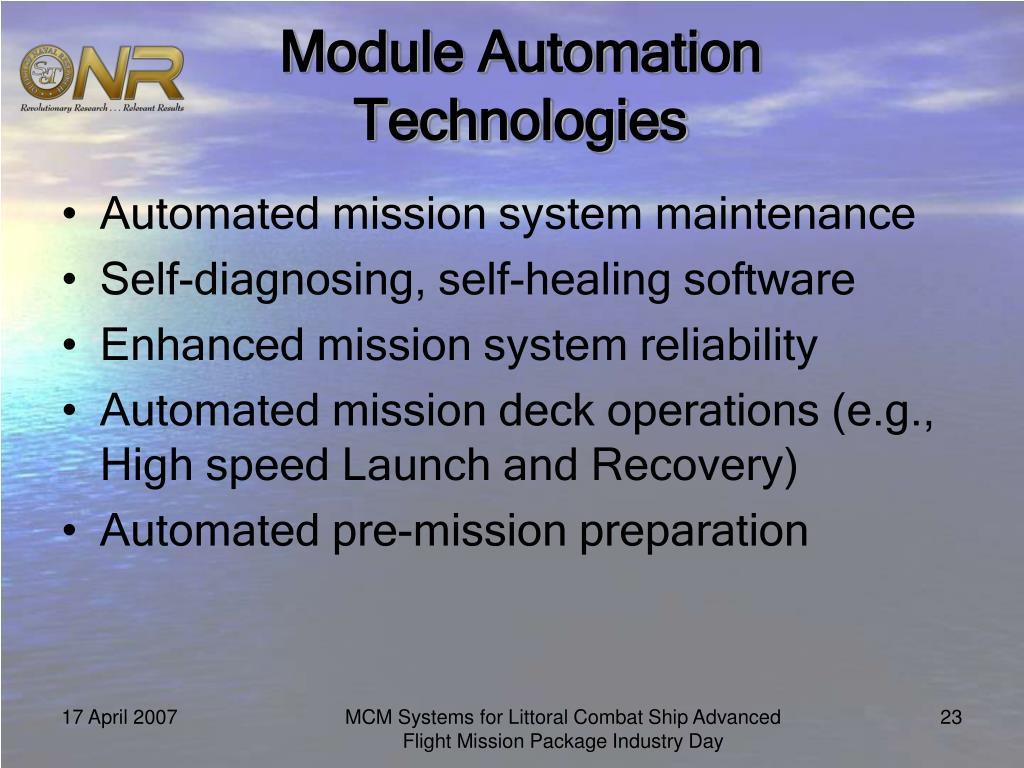 Module Automation Technologies