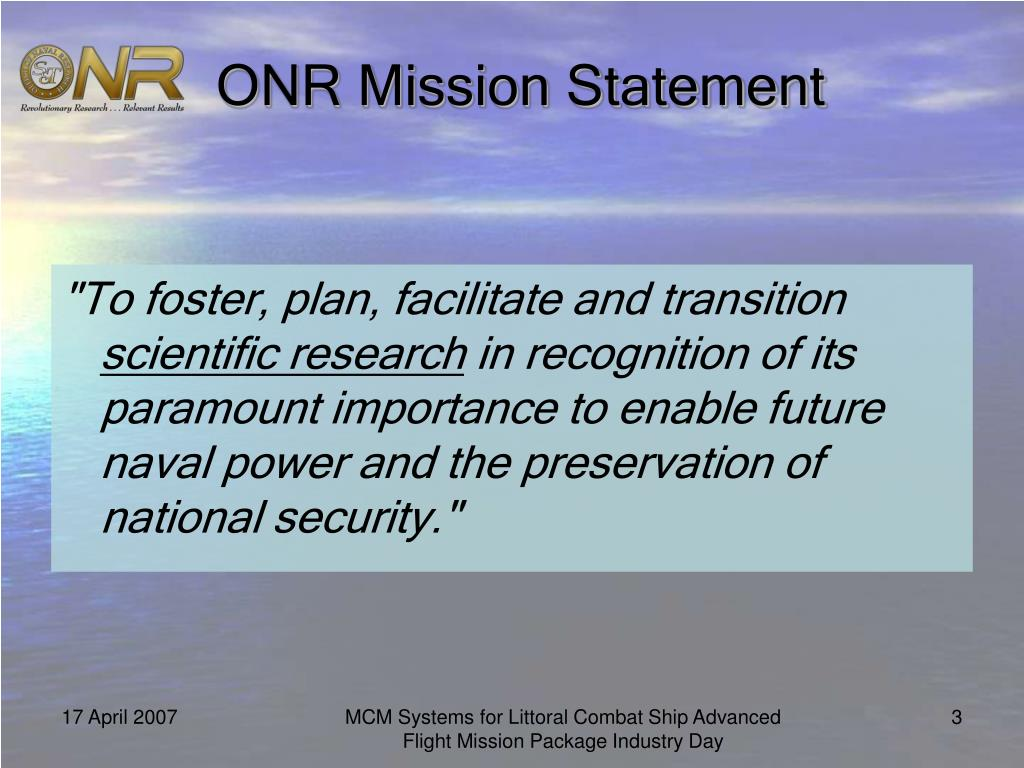 ONR Mission Statement