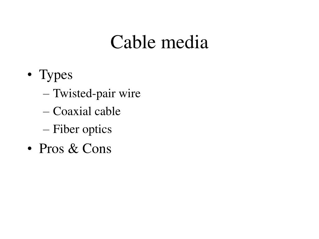 Cable media